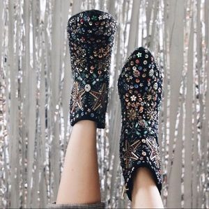 Free People Sequin Night Out Ankle Boot NWOT